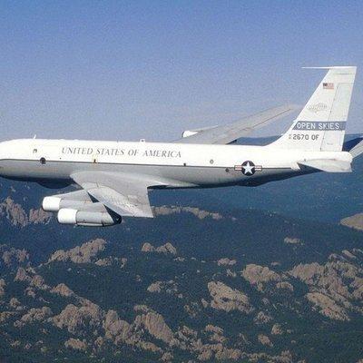 Американский самолет завершит наблюдательный полет над Россией