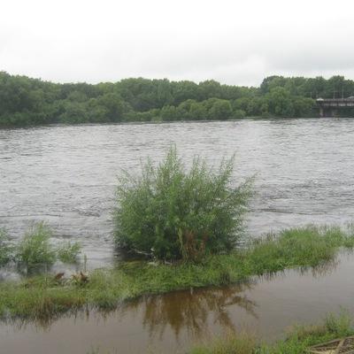 Ливни привели к подъему уровня воды в реках на территории Биробиджана