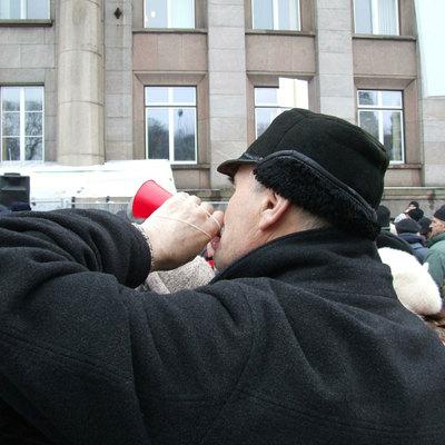 В Латвии проходит акция протеста против обязательной вакцинации от ковида