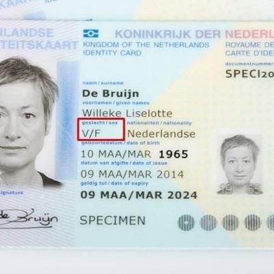 Нидерланды перестанут указывать пол в удостоверениях личности