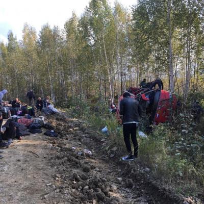 Автобус, который опрокинулся в Хабаровском крае, был технически исправен