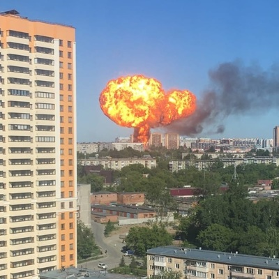 По факту пожара на АЗС в Новосибирске возбуждено уголовное дело