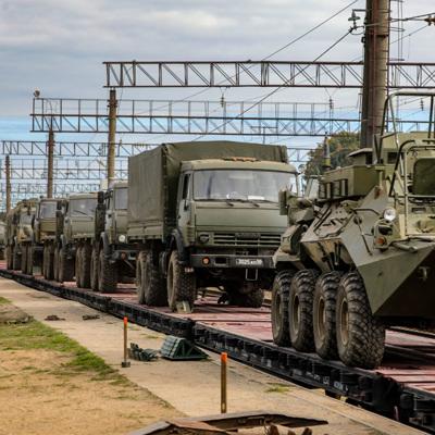Два эшелона с военными возвращаются в Россию из Белоруссии после учений