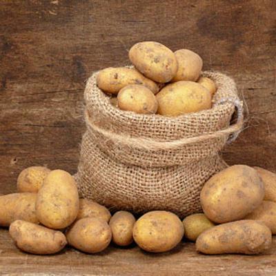 В Омске дорожную яму засыпали картофелем