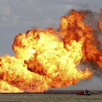 В Пермском крае горит магистральный газопровод