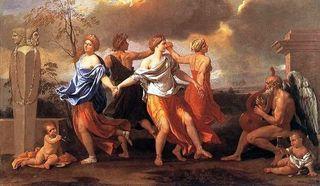 «Танец под музыку времени» Французский художник  Никола Пуссен 1638 г