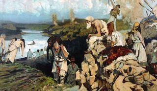 Сергей Иванов. Жильё восточных славян, 1909 г.
