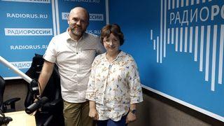 Дмитрий Конаныхин и  Мария Медникова в студии