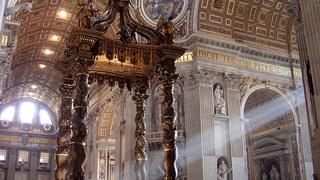 Балдахин Бернини, собор святого Петра в Риме, Ватикан / Ricardo André Frantz (User:Tetraktys) / CC BY-SA 3.0