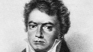 Людвиг ван Бетховен. Гравюра Хёфеля по рисунку Летронна, 1824