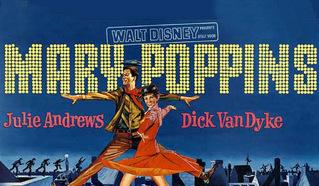 """Постер к американскому музыкальному фильму """"Мэри Поппинс"""" (""""Mary Poppins"""")."""