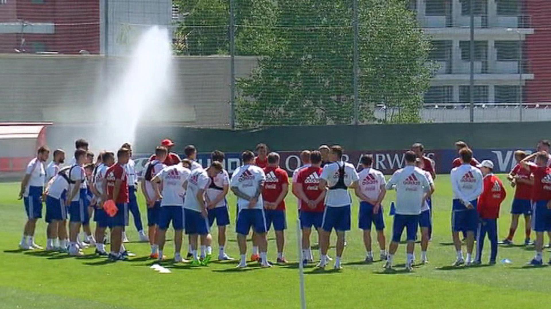 Российская сборная интенсивно готовится к матчу с Уругваем