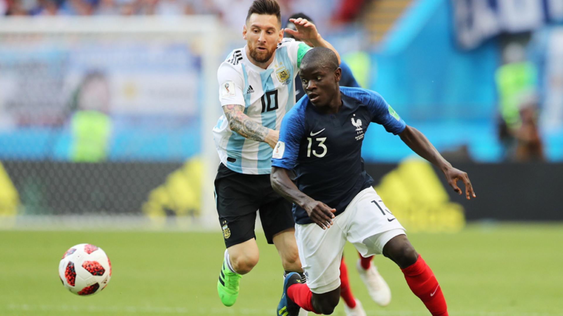 Франция – Аргентина. После первого тайма счет 1:1