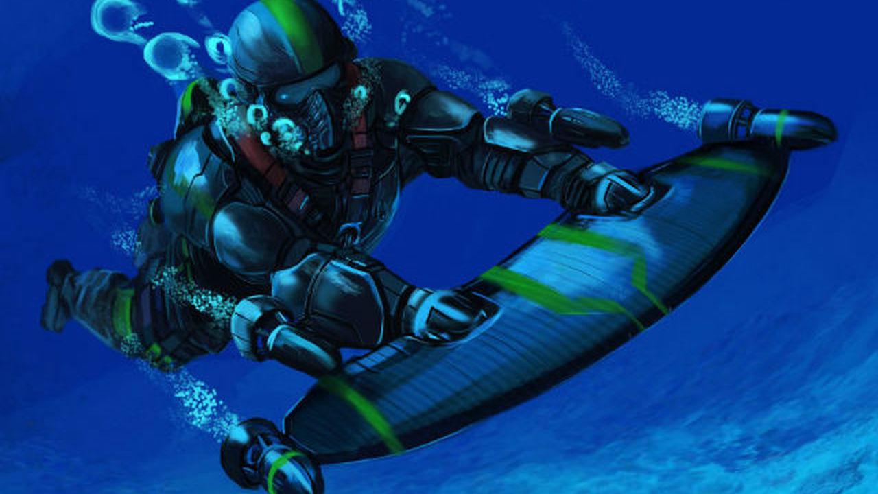 Новый реактивный ранец прокатит человека под водой