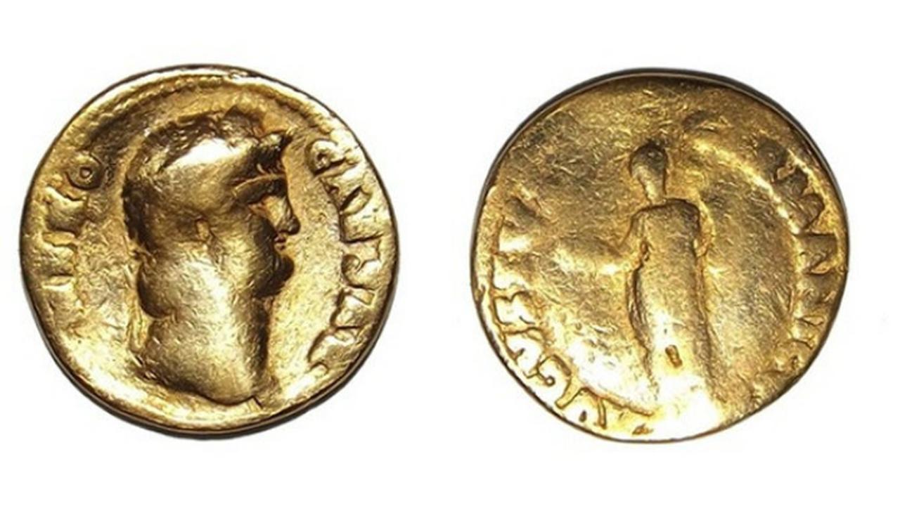 Редкая монета с изображением Нерона была найдена в Англии