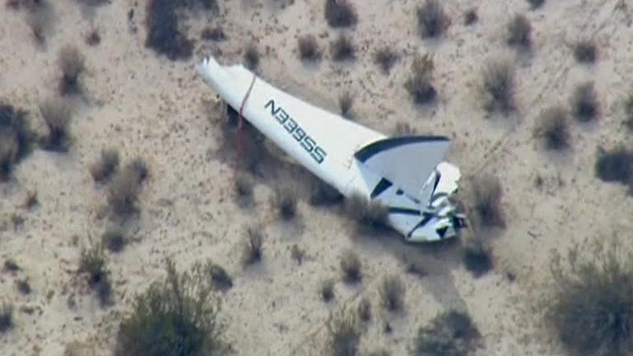Крушение космического корабля SpaceShipTwo на испытаниях: пилот погиб