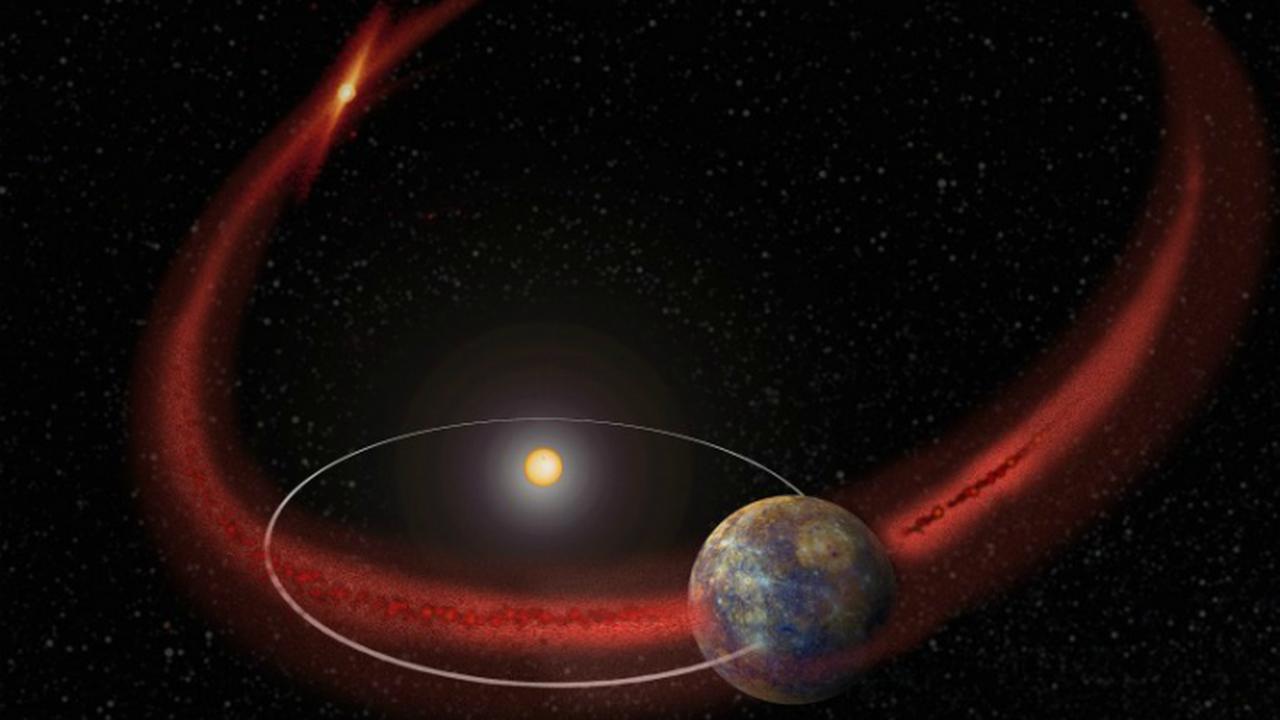 Аппарат MESSENGER обнаружил признаки метеоритных потоков у Меркурия