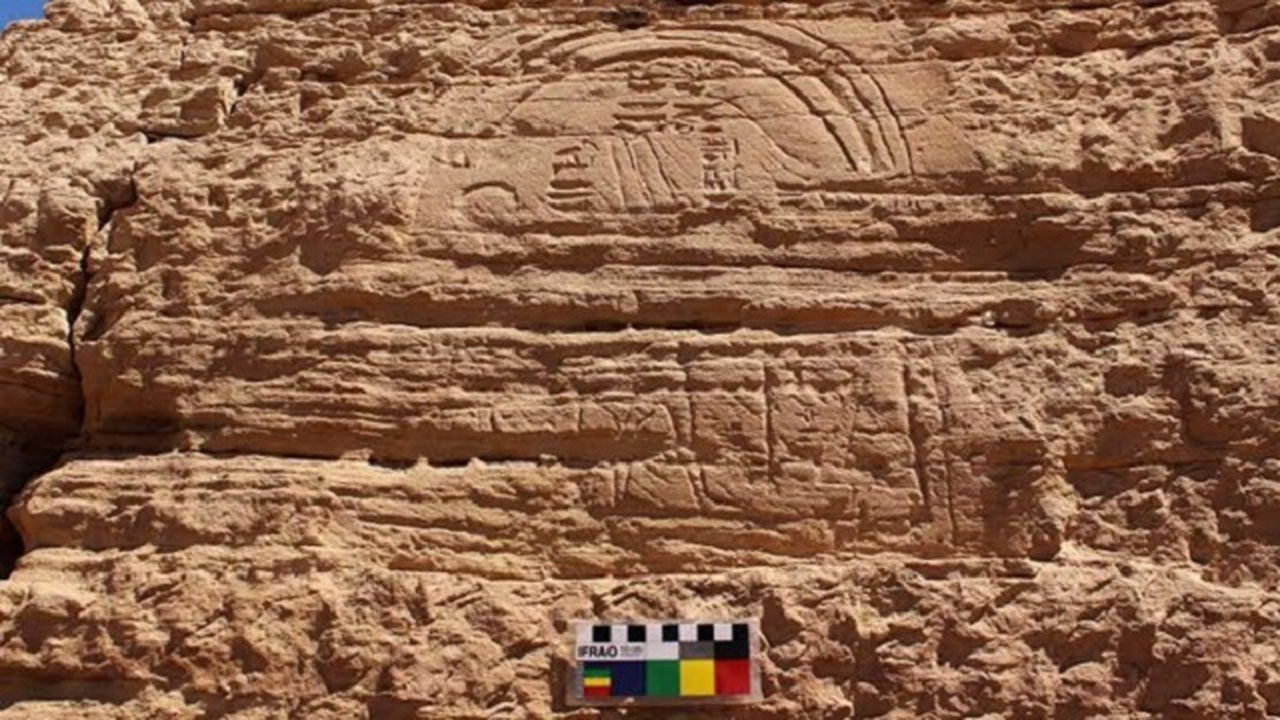 Изображение неизвестного фараона обнаружено на юге Египта