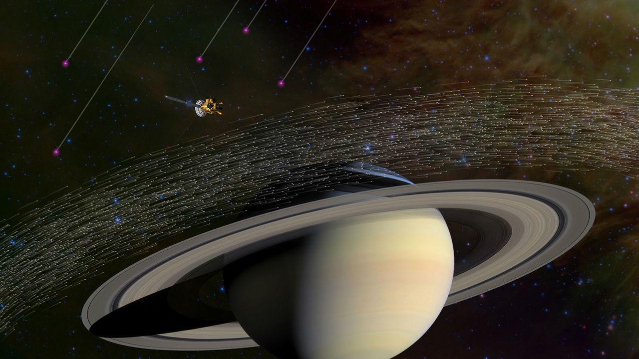 """Космический аппарат """"Кассини"""" поймал около Сатурна межзвёздную пыль"""