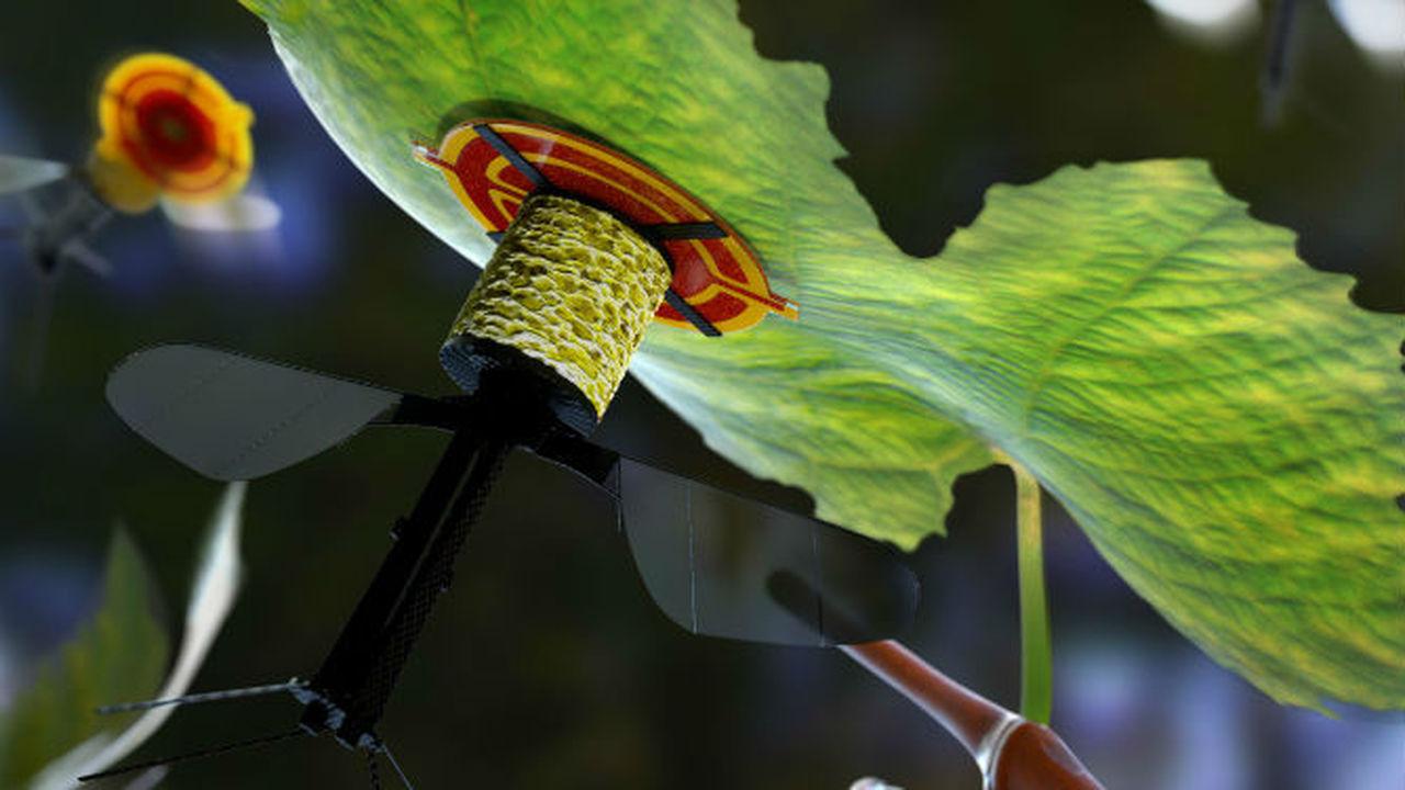 Новый робот-пчела может садиться на листья