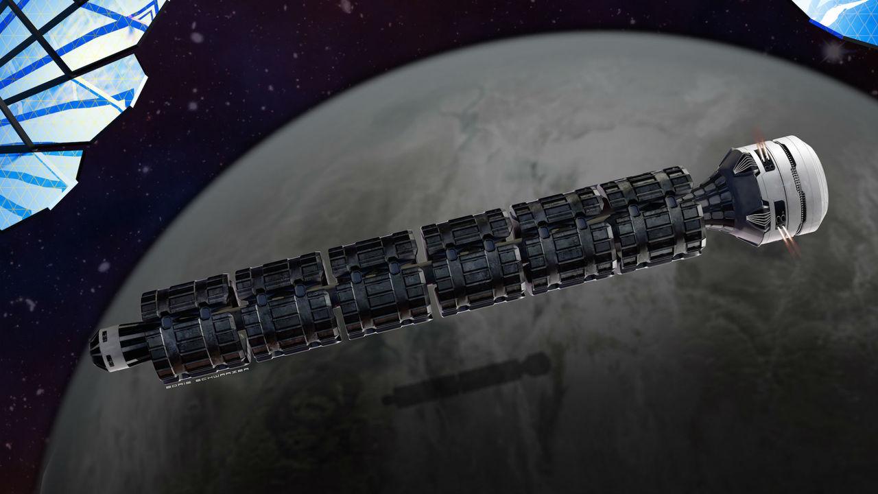 Космический поезд доставит на Марс за 37 часов