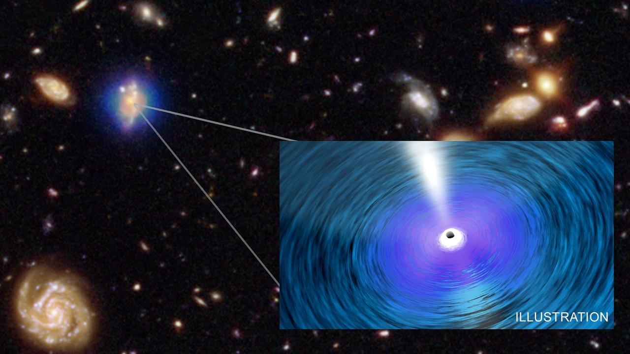 Чёрные дыры-тяжеловесы удивили астрофизиков скоростью роста