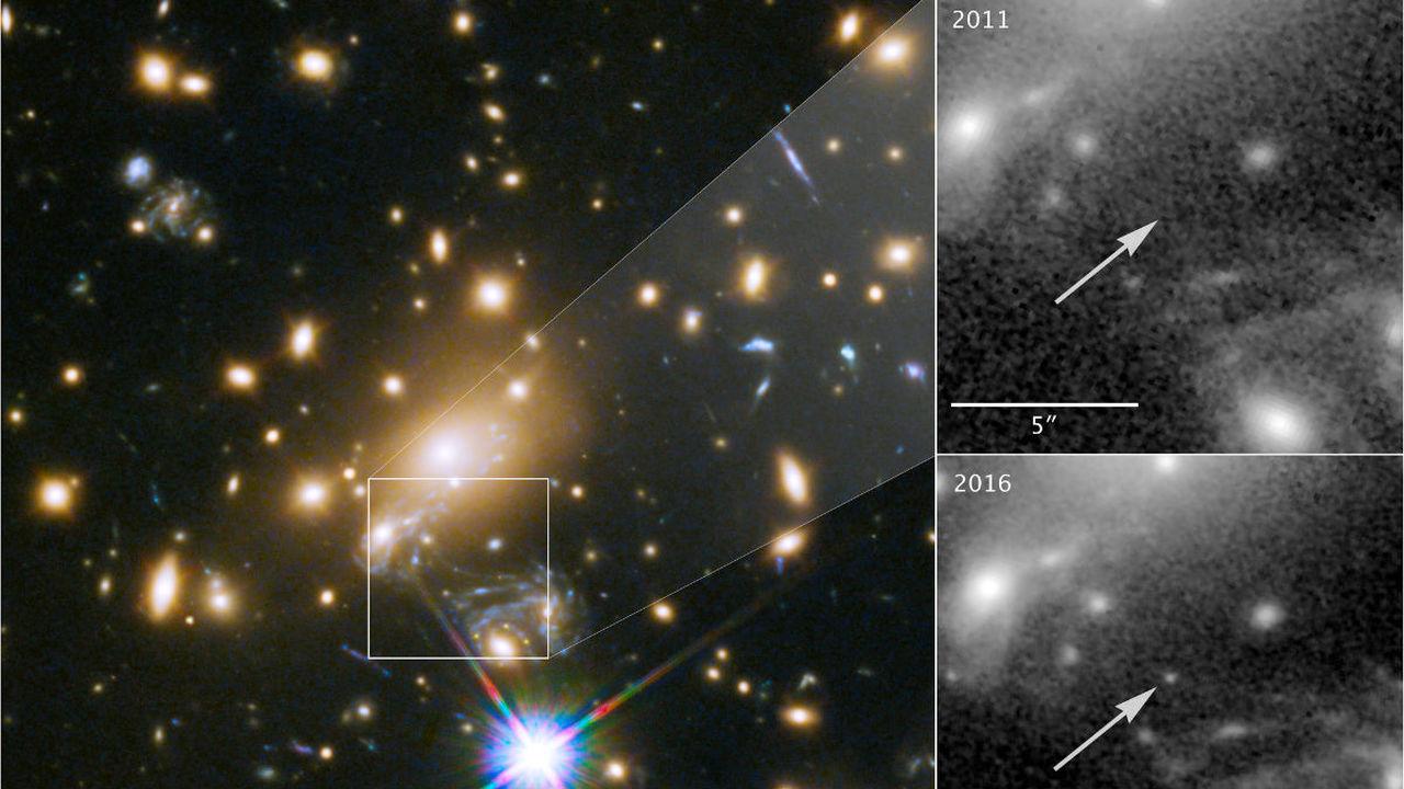 Астрономы разглядели самую далёкую отдельную звезду в истории