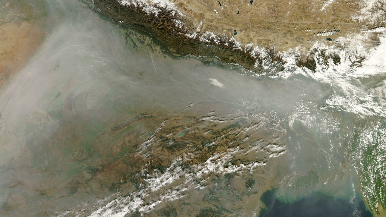 Муссоны очищают воздух над Южной Азией, разнося загрязнение по всему свету