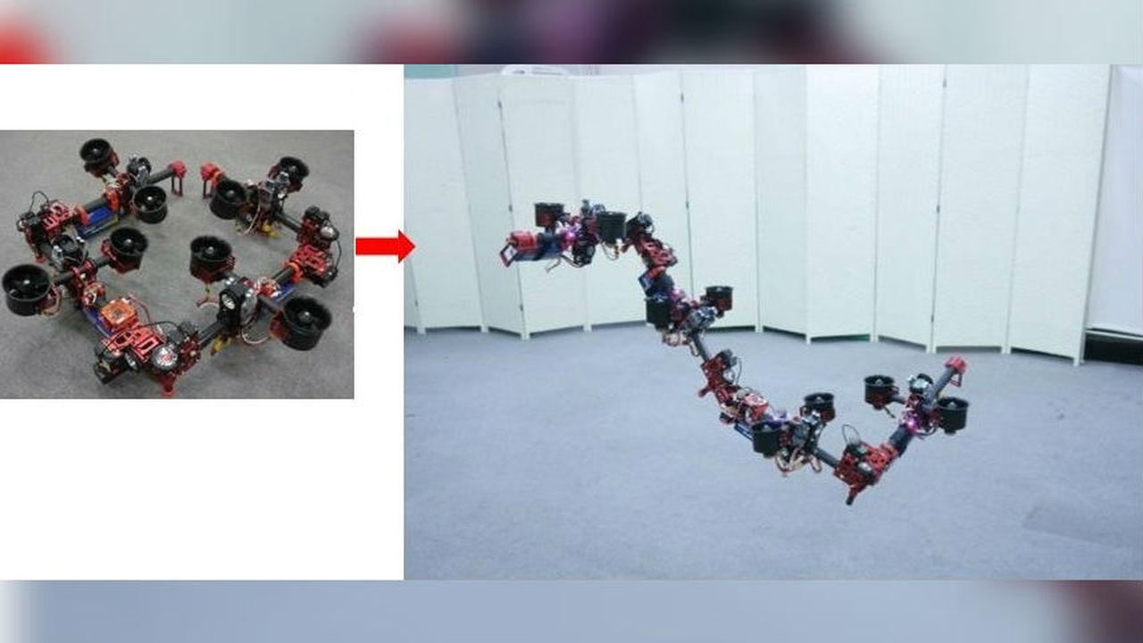 Гибкий робот-дракон пролетит сквозь любую щель