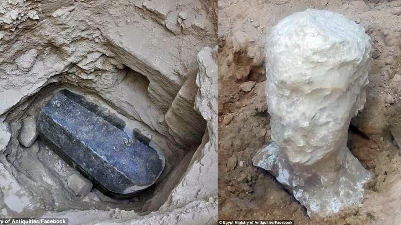 Черный саркофаг и белая голова: в Александрии нашли гигантское нетронутое захоронение