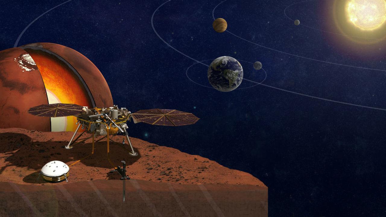 НАСА запустило аппарат, который расскажет про внутреннее строение Марса