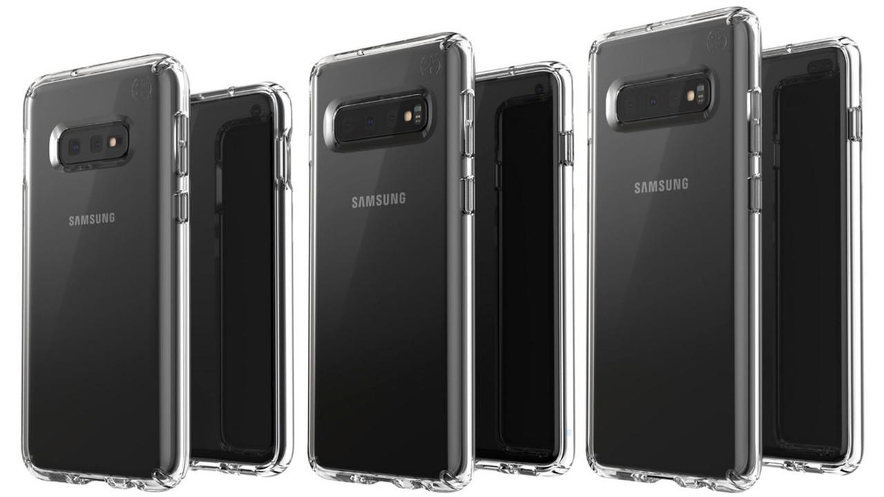 Три варианта Samsung Galaxy S10 показали на одном изображении