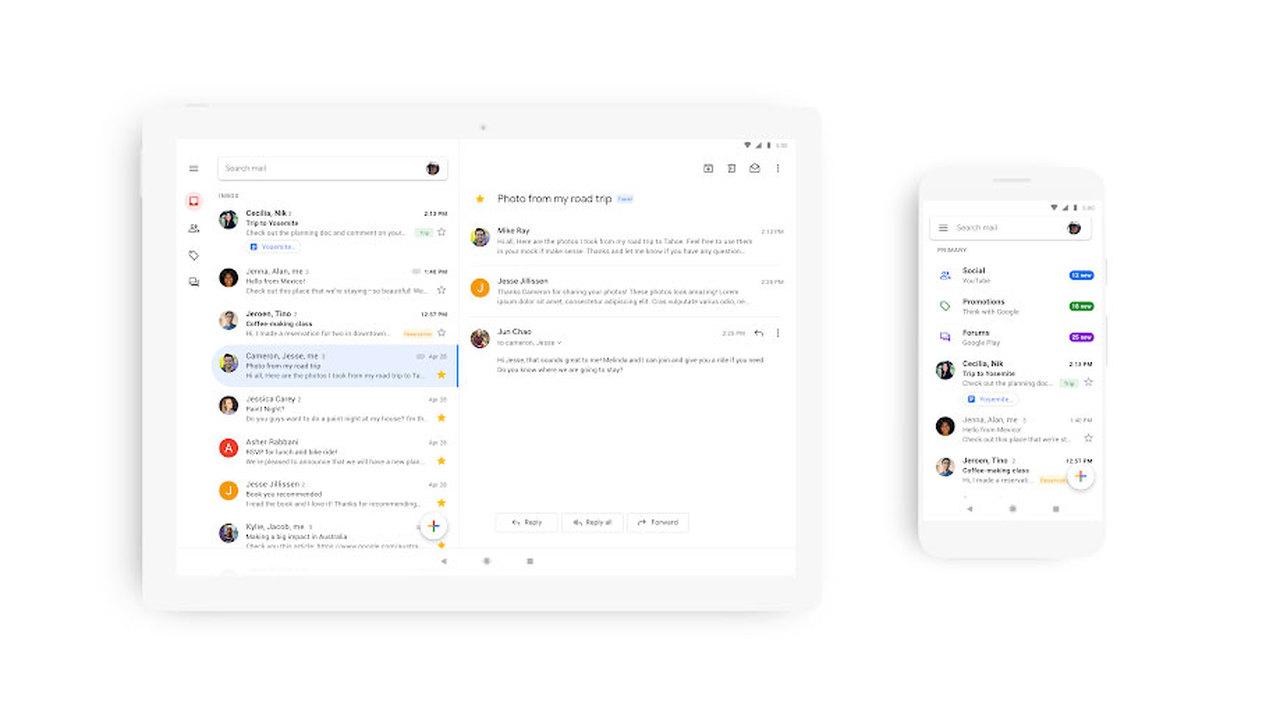 Google показала новый дизайн мобильной почты Gmail