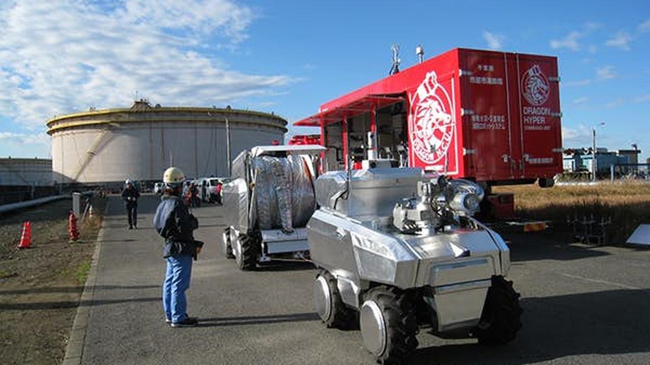 Автономные огнеборцы от Mitsubishi справятся с пожарами в труднодоступных местах