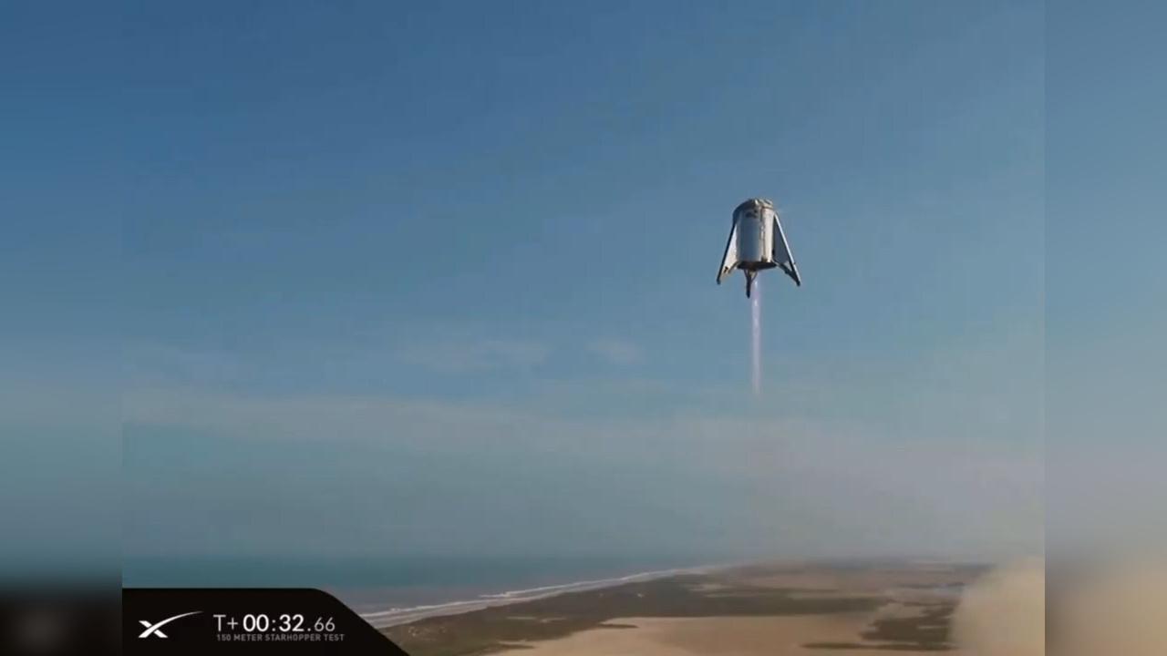Компания Илона Маска подняла прототип звездолёта на 150 метров
