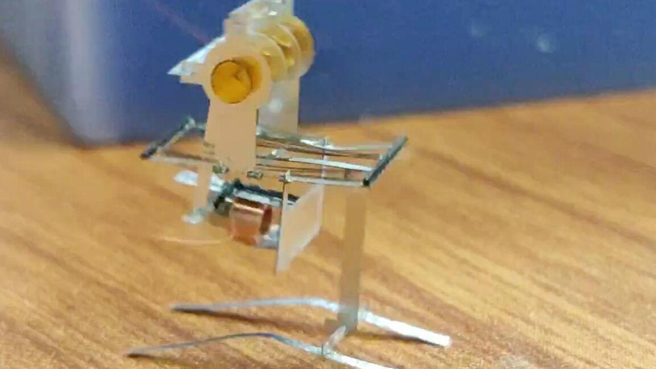 Созданы самые маленькие роботы, способные прыгать и летать на крыльях