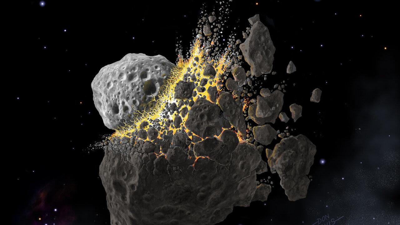 Древнейшее оледенение было вызвано разрушением гигантского астероида