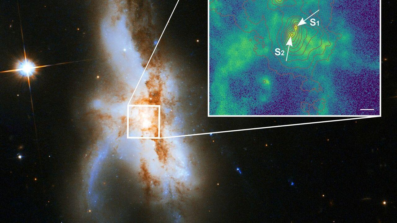 Найдены три гигантские чёрные дыры, готовые столкнуться
