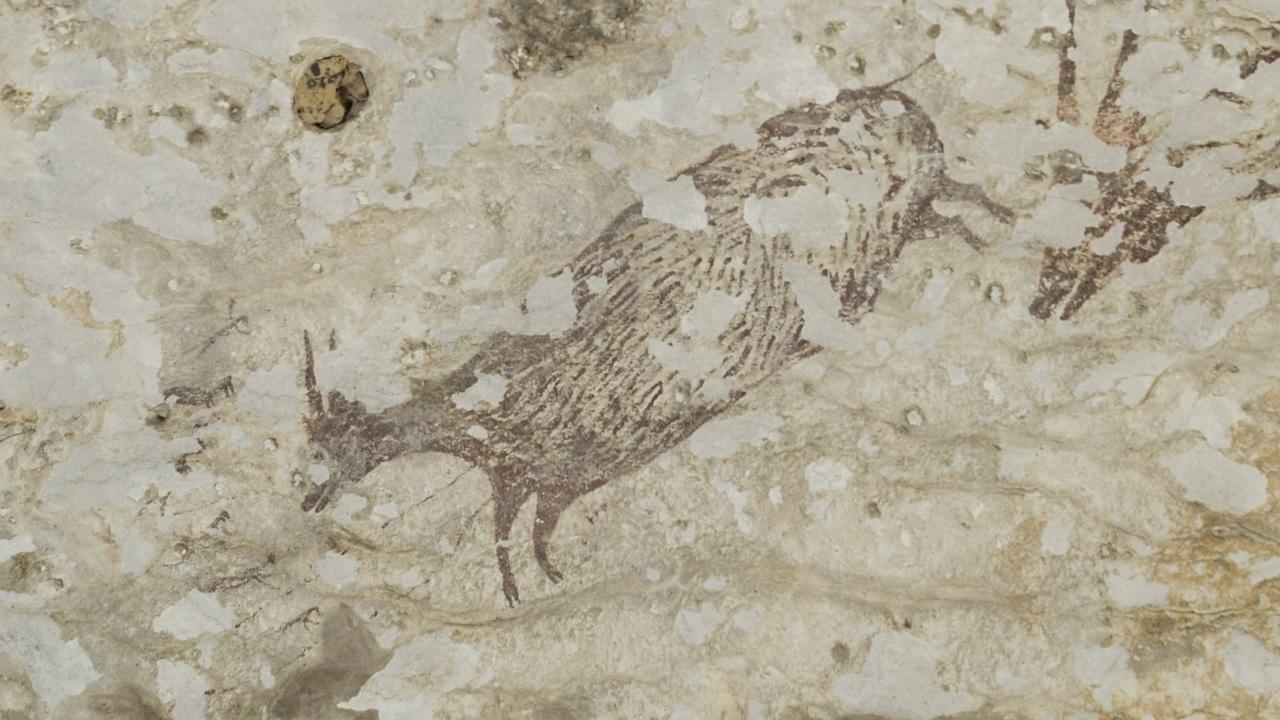 Древнейшая в мире сцена охоты изображает полулюдей-полуживотных