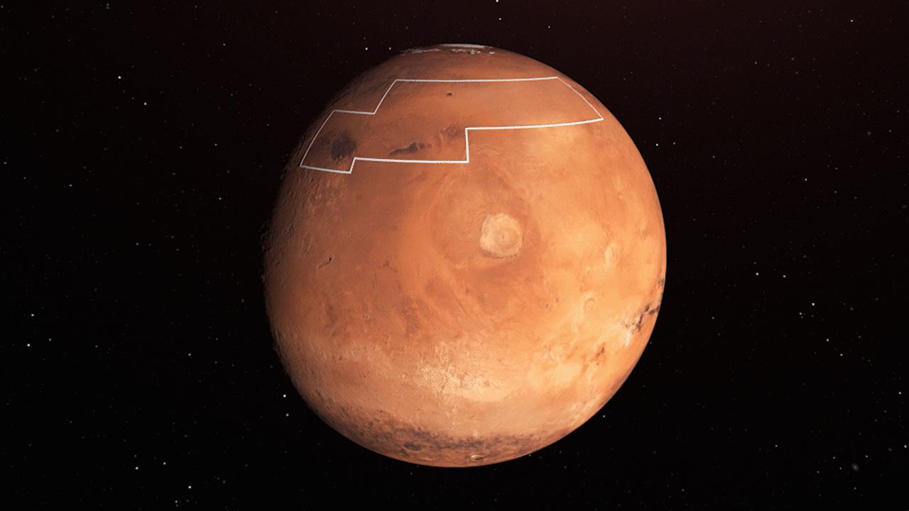 Считанные сантиметры: где марсианский лёд можно добывать лопатой