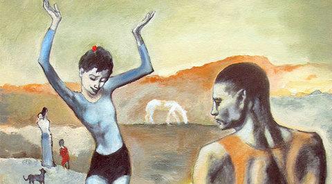 """Цвет времени. Пабло Пикассо. """"Девочка на шаре"""""""