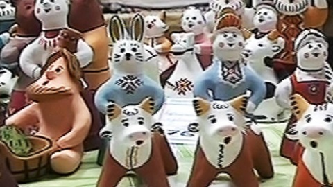 Сказки из глины и дерева. Каргопольская глиняная игрушка