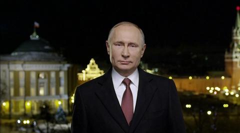 Новогоднее обращение президента Российской Федерации В.В. Путина. Эфир от 01.01.2018
