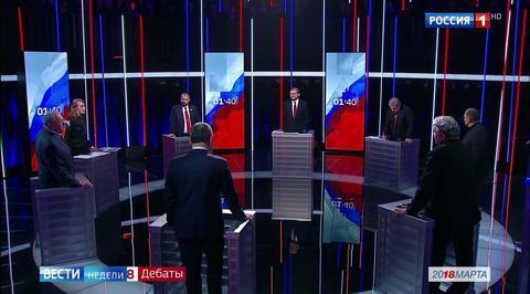 Кандидаты начали дебаты еще в гримерке