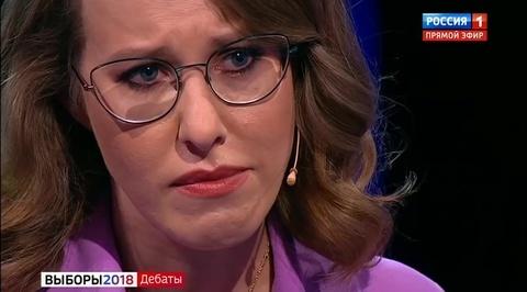Ксения Собчак расплакалась и покинула студию для дебатов