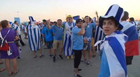 Футбольная эйфория в Ростове: матч между Уругваем и Саудовской Аравией не разочаровал