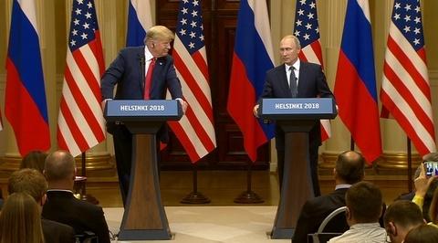 Пресс-конференция Владимира Путина и Дональда Трампа. Полное видео