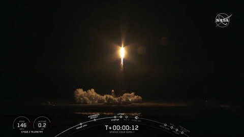Crew Dragon-2 с астронавтами на борту стартовал к МКС