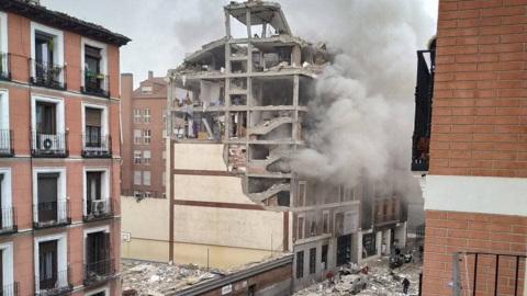 ЧП. Мощный взрыв прогремел в здании в центре Мадрида