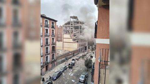 """Новости на """"России 24"""". Взрыв в Мадриде: первая версия – взрыв газа"""